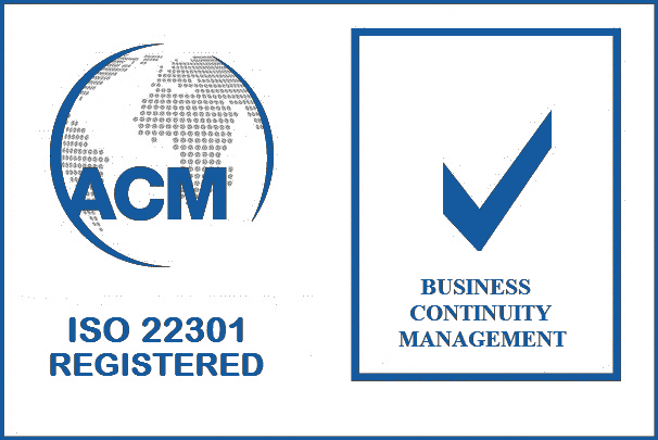 ISO 22301 Accredited
