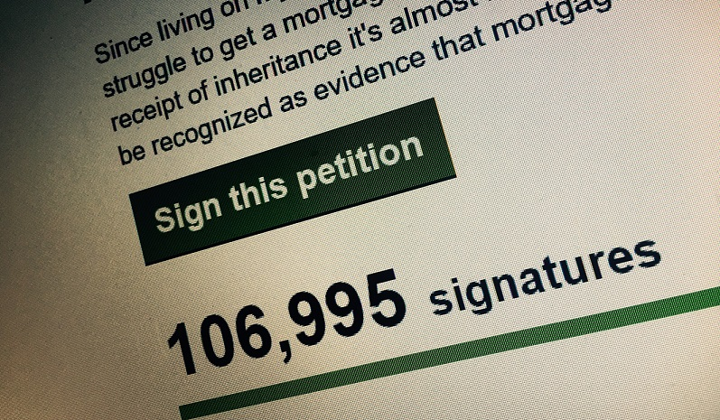Petition to make rent payments 'proof' you can afford mortgage