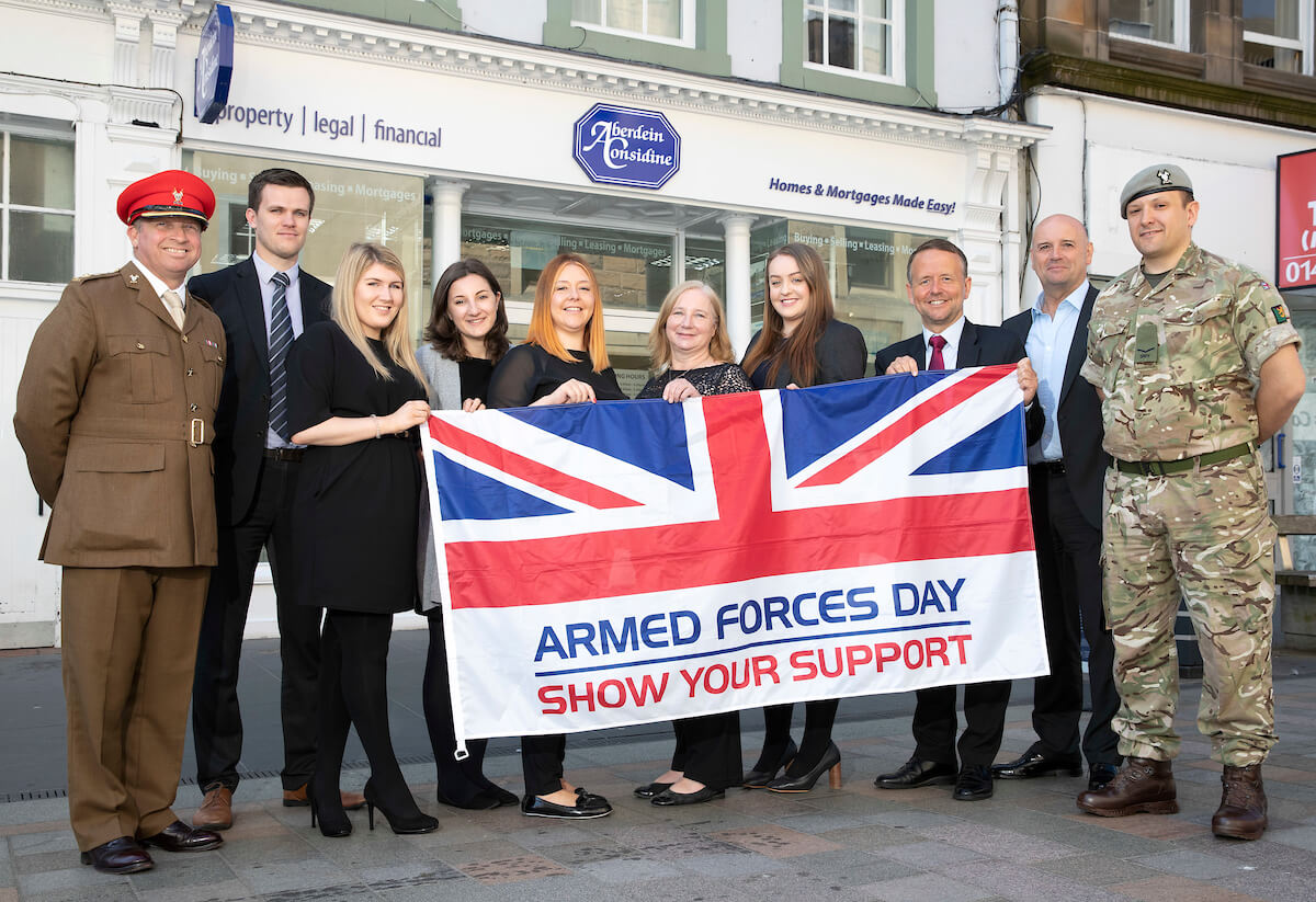 Aberdein Considine sign the UK Armed Forces Covenant