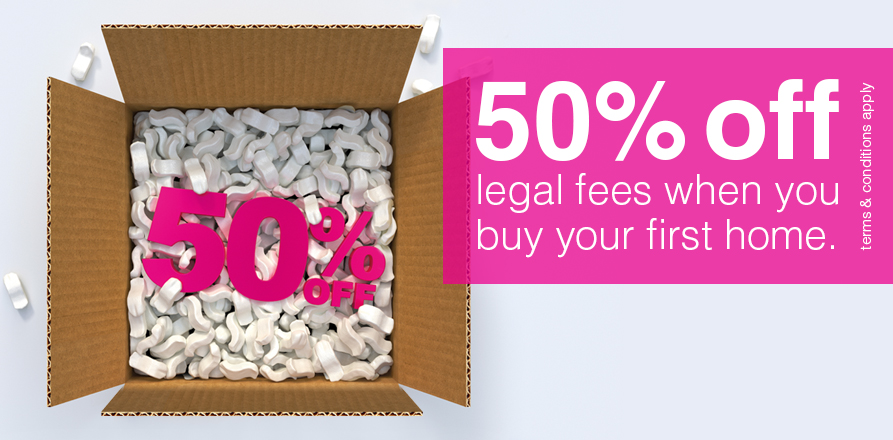 Final week for first time buyers to get 50% off legal fees